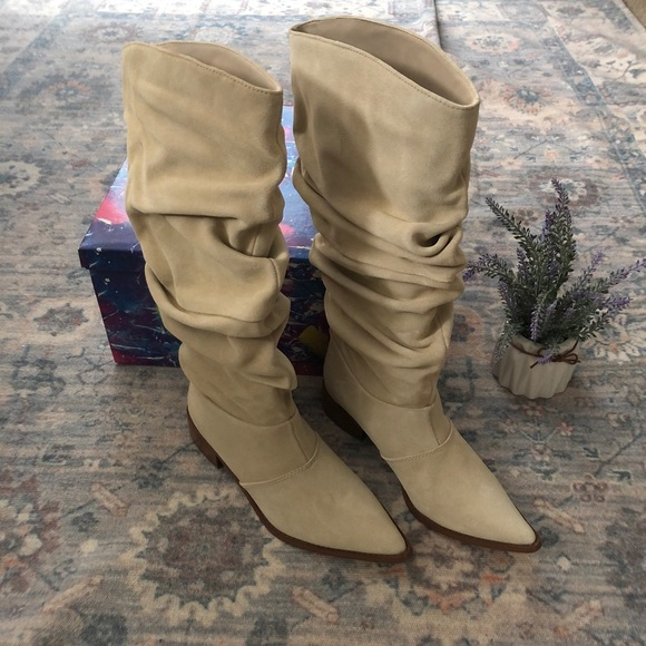 Chinese Laundry Winner Western Slouchy Suede Boot